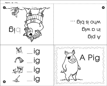 picture relating to Printable Word Family Books identified as A Pig (-ig phrase relatives) Printable Mini-Publications