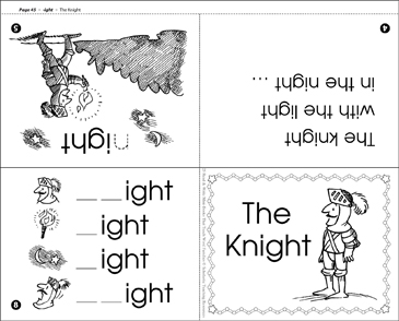 graphic regarding Word Family Printable called The Knight (-ight phrase relatives) Printable Mini-Publications