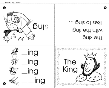 The King (-ing word family) - Printable Worksheet