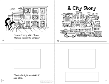 City, Town, Country: Manipulative Mini-Books - Printable Worksheet