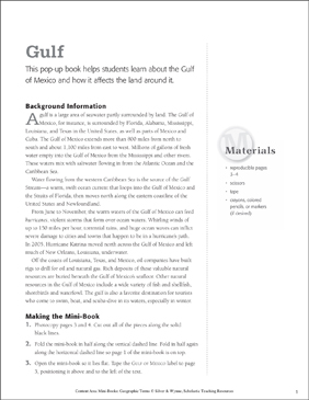 Gulf: Geographic Terms Mini-Book - Printable Worksheet