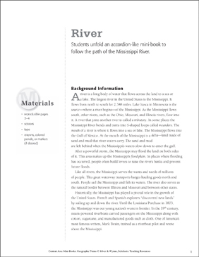 River: Geographic Terms Mini-Book - Printable Worksheet