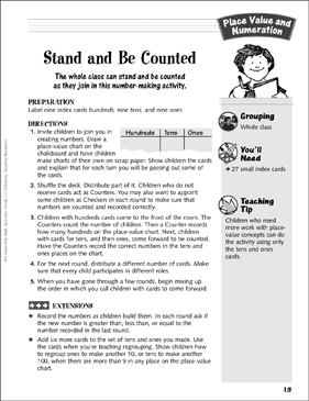 Stand and Be Counted: Place Value and Numeration Activity - Printable Worksheet