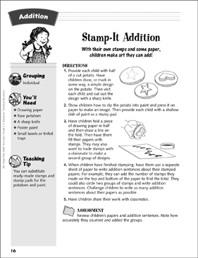 Stamp-It Addition: Addition Activity - Printable Worksheet