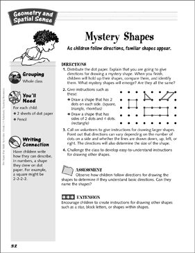 Mystery Shapes: Geometry and Spatial Sense Activity - Printable Worksheet