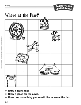 Where at the Fair?: Geometry Activity - Printable Worksheet