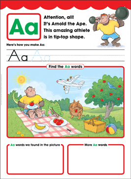 Aa: Letter of the Week - Printable Worksheet