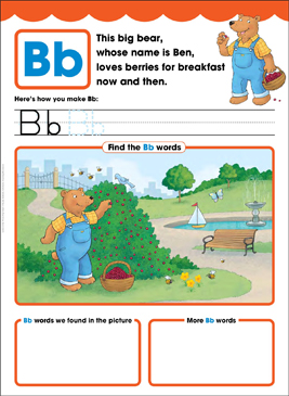 Bb: Letter of the Week - Printable Worksheet