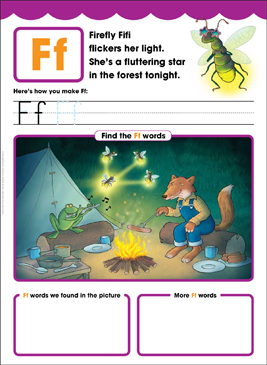 Ff: Letter of the Week - Printable Worksheet