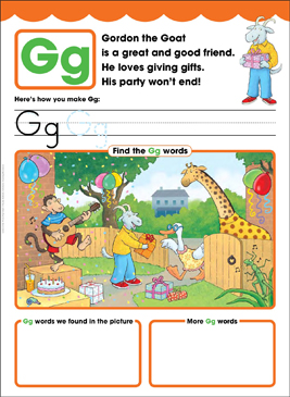 Gg: Letter of the Week - Printable Worksheet