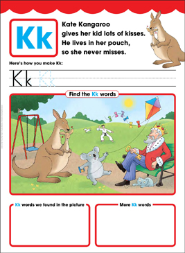 Kk: Letter of the Week - Printable Worksheet