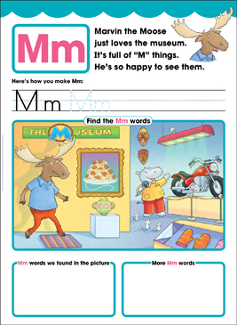 Mm: Letter of the Week - Printable Worksheet