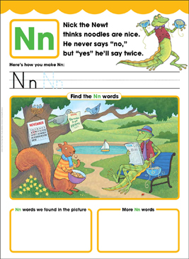 Nn: Letter of the Week - Printable Worksheet