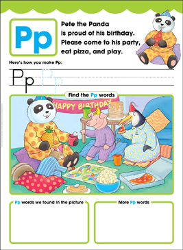 Pp: Letter of the Week - Printable Worksheet