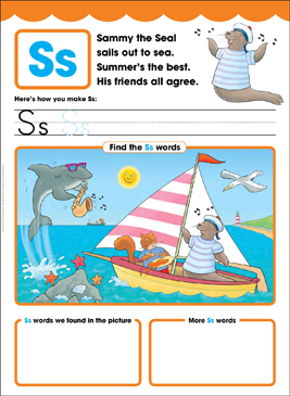 Ss: Letter of the Week - Printable Worksheet