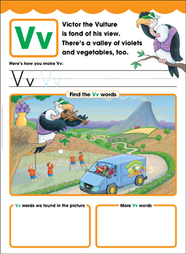 Vv: Letter of the Week - Printable Worksheet
