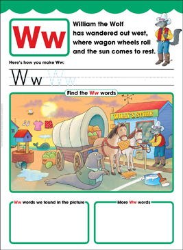 Ww: Letter of the Week - Printable Worksheet