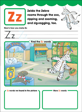 Zz: Letter of the Week - Printable Worksheet