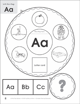 Letter Aa: Lift-the-Flap Alphabet - Printable Worksheet