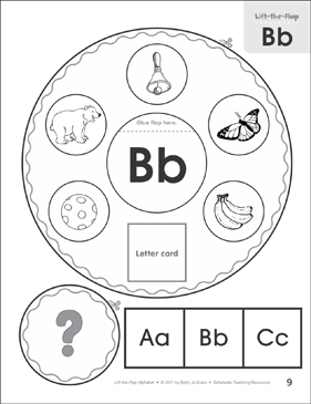 Letter Bb: Lift-the-Flap Alphabet - Printable Worksheet