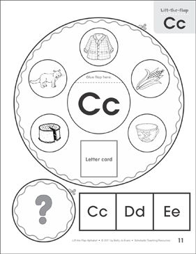 Letter Cc: Lift-the-Flap Alphabet - Printable Worksheet
