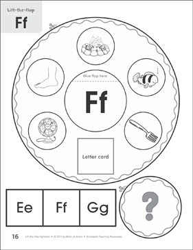 Letter Ff: Lift-the-Flap Alphabet - Printable Worksheet