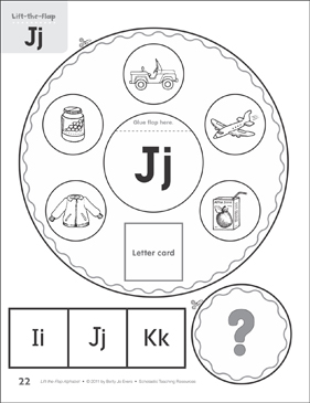 Letter Jj: Lift-the-Flap Alphabet - Printable Worksheet