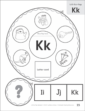 Letter Kk: Lift-the-Flap Alphabet - Printable Worksheet