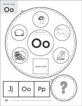 Letter Oo: Lift-the-Flap Alphabet - Printable Worksheet