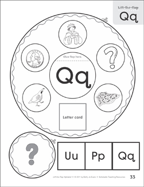 Letter Qq: Lift-the-Flap Alphabet - Printable Worksheet