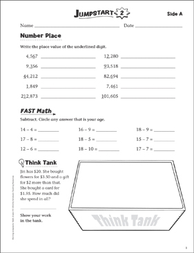 Independent Practice: Grade 4 Math Jumpstart 2 - Printable Worksheet