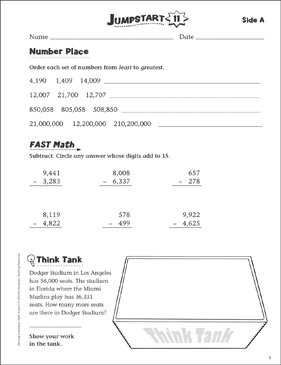 Independent Practice: Grade 4 Math Jumpstart 11 - Printable Worksheet