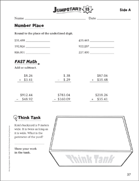 Independent Practice: Grade 4 Math Jumpstart 15 - Printable Worksheet