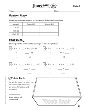 Independent Practice: Grade 4 Math Jumpstart 19 - Printable Worksheet