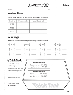Independent Practice: Grade 4 Math Jumpstart 41 - Printable Worksheet