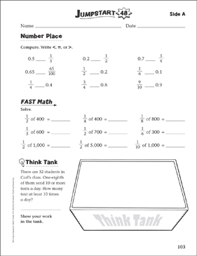 Independent Practice: Grade 4 Math Jumpstart 48 - Printable Worksheet