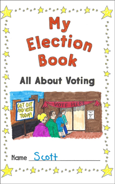 My Election Book (All About Voting): Election Activities - Printable Worksheet