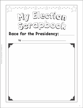 Election Scrapbook: Election Activities - Printable Worksheet