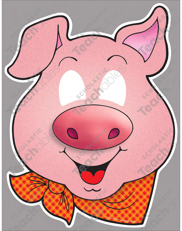 Three Little Pigs Classroom Play Masks Printable Student