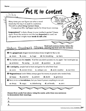 Put It in Context - Printable Worksheet
