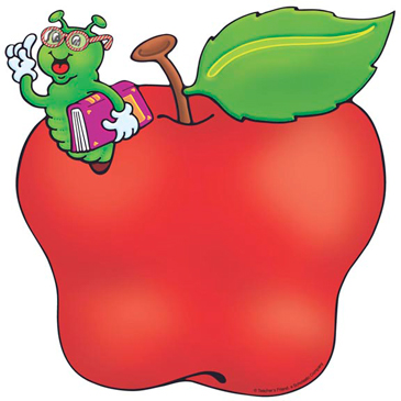Apple and Worm - Image Clip Art