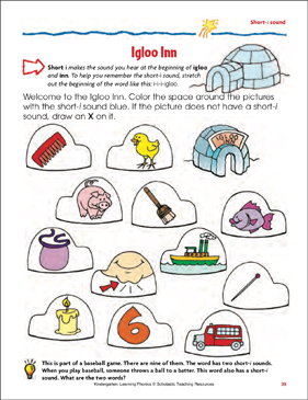 Igloo Inn (Short-i sound) (Color) - Printable Worksheet