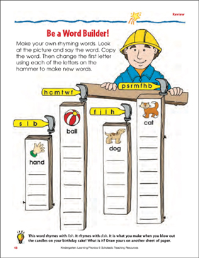 Be a Word Builder! Review - Printable Worksheet