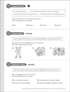 Exercise: Multiple Meaning Word - Printable Worksheet
