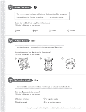 Fine: Multiple Meaning Word - Printable Worksheet
