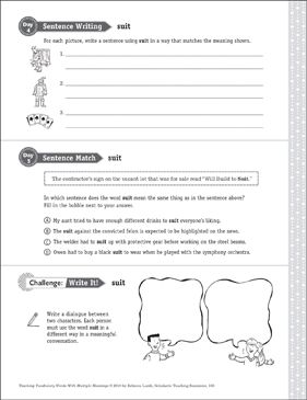 Suit: Multiple Meaning Word - Printable Worksheet