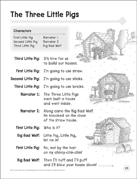 photo about Three Little Pigs Printable called The A few Minimal Pigs: A Starting Reader Enjoy Printable