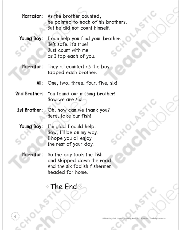 Six Foolish Fishermen A Beginning Reader Play Printable Texts And. See Inside. Worksheet. Tapped Worksheet Questions At Mspartners.co