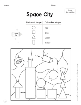 Shape Recognition: Math Picture Puzzles for Young Learners - Printable Worksheet