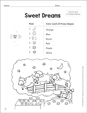 One-to-One Correspondence: Math Picture Puzzles for Young Learners - Printable Worksheet